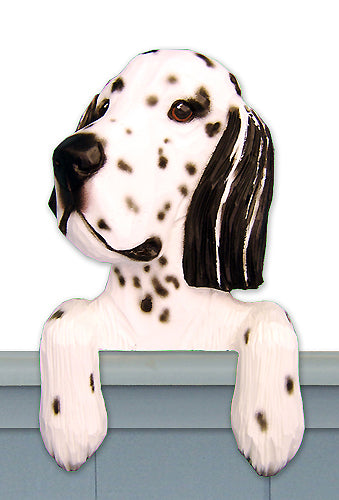 English Setter Dog Door Topper Blue Belton