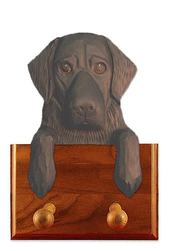 Flat Coated Retriever Dog Leash Holder Black