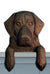 Flat-Coated Retriever Dog Door Topper Black