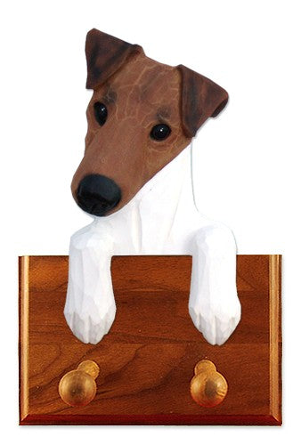 Fox Terrier Smooth Dog Leash Holder Brown