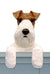 Fox Terrier Wire Dog Door Topper