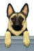 German Shepherd Dog Door Topper Black