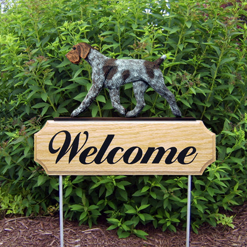 German Wire haired Pointer Dog in Gait Yard Welcome Stake
