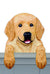 Golden Retriever Pet Dog Door Topper Cream
