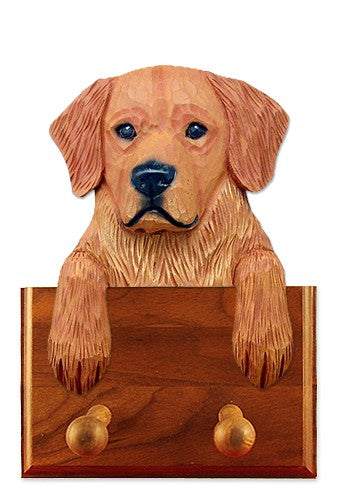 Golden Retriever Show Dog Leash Holder Cream