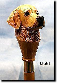 Golden Retriever Dog Hand painted Hiking Staff