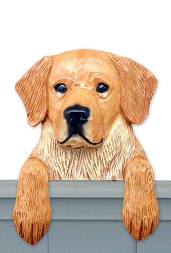 Golden Retriever Show Dog Door Topper Cream