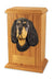Gordon setter Dog Light Oak Memorial Cremation Urn