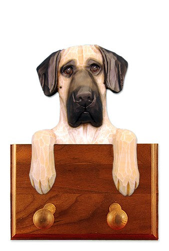 Great Dane Natural Dog Leash Holder Fawn