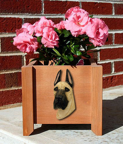 Great Dane Dog Planter Box Black