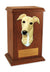 Greyhound Dog Light Oak Memorial Cremation Urn Black