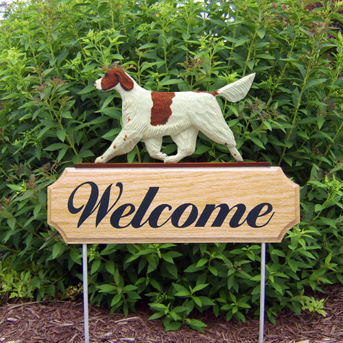 Irish Red and White Setter Dog in Gait Yard Welcome Stake