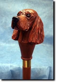 Irish Setter Dog Head Cast Resin Walking Cane Stick