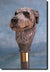 Irish Wolfhound Dog Birch Wood Walking Cane Stick