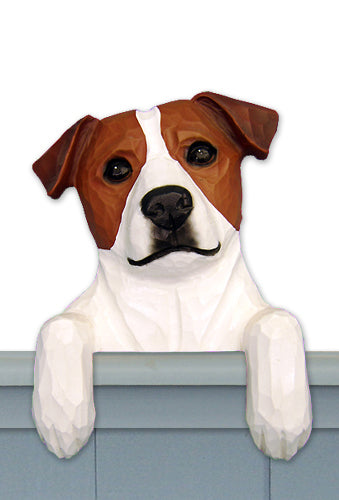 Jack Russell Terrier Dog Door Topper Black and White
