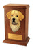 Labrador retriever Dog Light Oak Memorial Cremation Urn Black