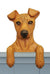 Miniature Pinscher Natural Dog Door Topper Black and Tan