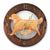 Golden retriever Dog Dark Oak Hand Crafted Wall Clock Light