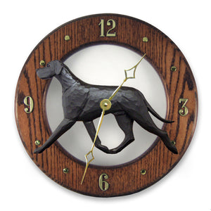 Great dane Natural Dog Dark Oak Hand Crafted Wall Clock Black