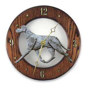 Great dane Natural Dog Dark Oak Hand Crafted Wall Clock Blue
