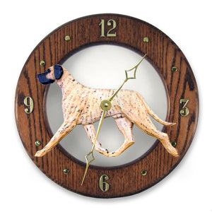 Great dane Natural Dog Dark Oak Hand Crafted Wall Clock Brindle