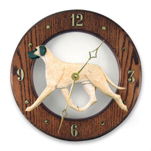 Great dane Natural Dog Dark Oak Hand Crafted Wall Clock Fawn
