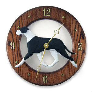 Great dane Natural Dog Dark Oak Hand Crafted Wall Clock Mantle