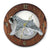 Schnauzer Natural Dog Dark Oak Hand Crafted Wall Clock Salt and Pepper