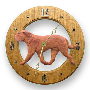 Dogue de bordeaux Dog Light Oak Hand Crafted Wall Clock