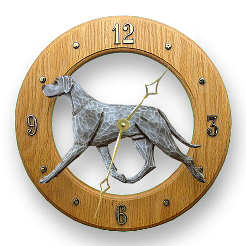 Great dane Natural Dog Light Oak Hand Crafted Wall Clock Black