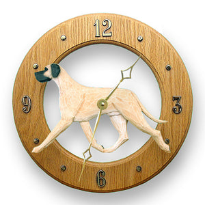 Great dane Natural Dog Light Oak Hand Crafted Wall Clock Fawn