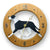 Great dane Natural Dog Light Oak Hand Crafted Wall Clock Mantle