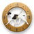 English pointer Dog Light Oak Hand Crafted Wall Clock Liver and White