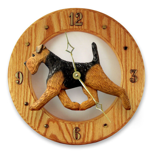 Welsh terrier Dog Light Oak Hand Crafted Wall Clock