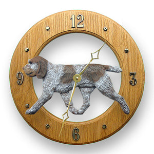 Spinone italiano Dog Light Oak Hand Crafted Wall Clock Orange Roan