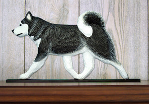 Alaskan Malamute Dog in Gait Topper Black and White