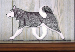 Alaskan Malamute Dog in Gait Topper Grey and White