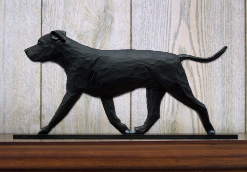 American Staffordshire Terrier Natural Dog in Gait Topper Black