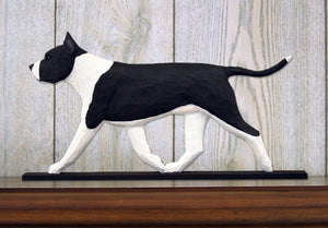 American Staffordshire Terrier Dog in Gait Topper Black and White