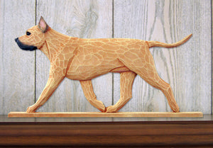 American Staffordshire Terrier Dog in Gait Topper Fawn