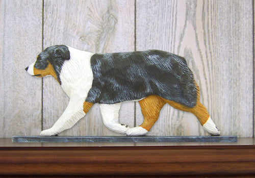 Australian Shepherd Dog in Gait Topper Black Tri
