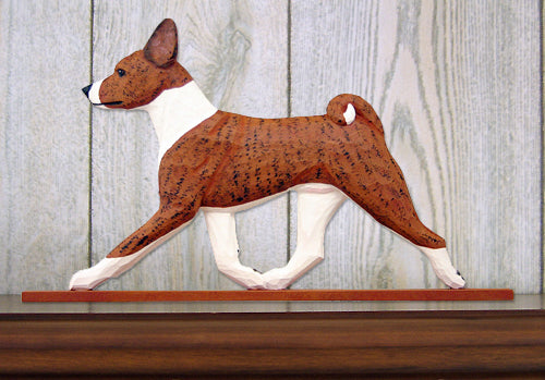 Basenji Dog in Gait Topper Black and White