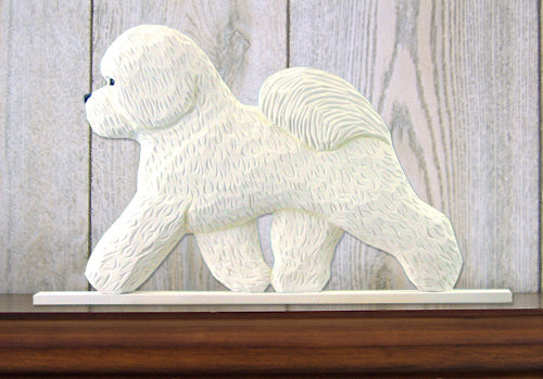 Bichon Frise Dog in Gait Topper