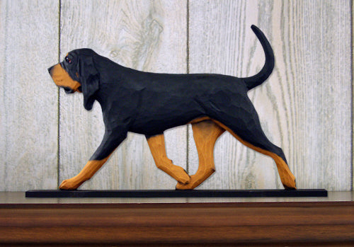 Bloodhound Dog in Gait Topper Black and Tan