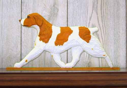 Brittany Dog in Gait Topper Liver