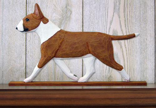 Bull Terrier Dog in Gait Topper Brindle