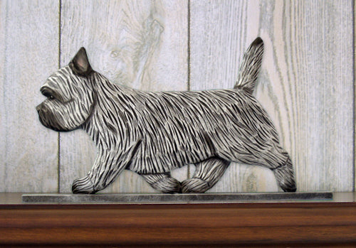 Cairn Terrier Dog in Gait Topper Black Brindle