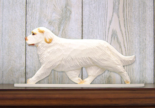 Clumber Spaniel Dog in Gait Topper Lemon