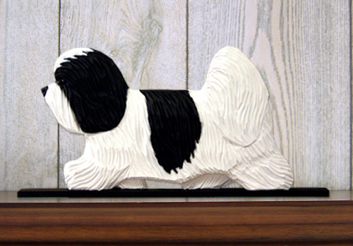 Coton de Tulear Dog in Gait Topper Black and White
