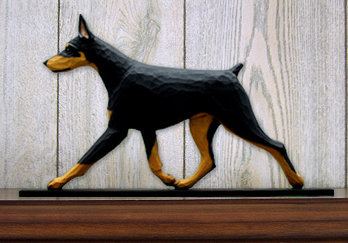 Doberman Dog in Gait Topper Black and Tan